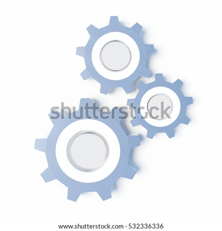 Gears on the withe background