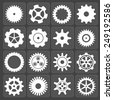 Gears shapes set, tooth wheels icons for web and app - stock photo