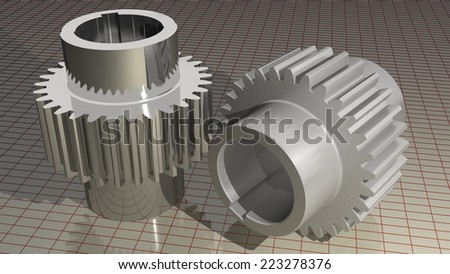 Gears - Toothed wheels - stock photo