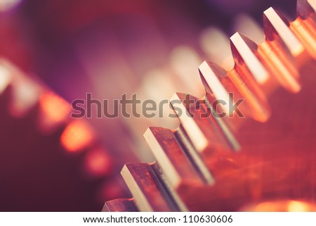 gears with copy-space - stock photo