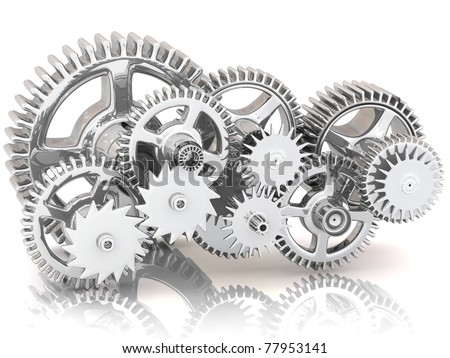 Gears. Work concept. - stock photo