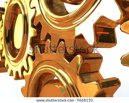 gearwheel - stock photo