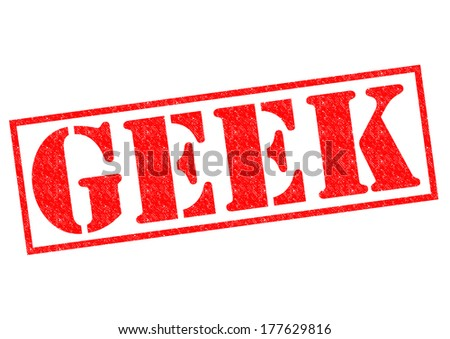 GEEK red Rubber Stamp over a white background.