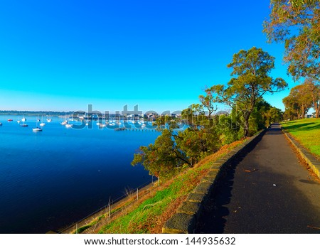Geelong coastline early morning - stock photo