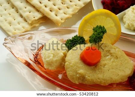 Gefilte fish - stock photo