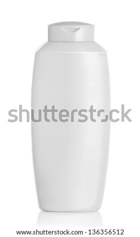 Gel, Foam, Liquid Soap or any cosmetics white Plastic Bottle isolated over white background - stock photo