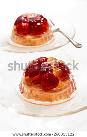 Gelatin Dessert - stock photo