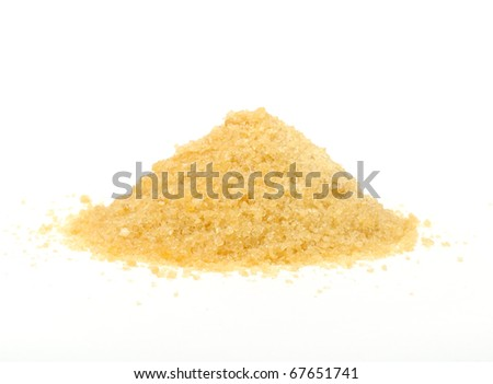 Gelatin Granules Isolated on White Background - stock photo