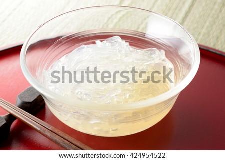 gelidium jelly,Japanese food - stock photo