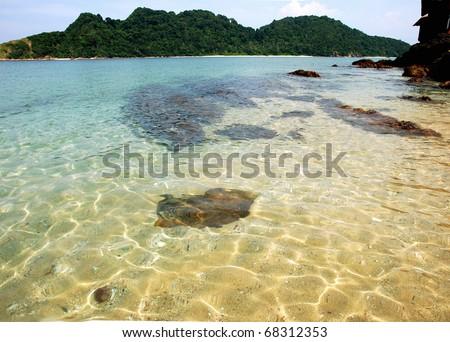 Gem Island - Malaysia - stock photo