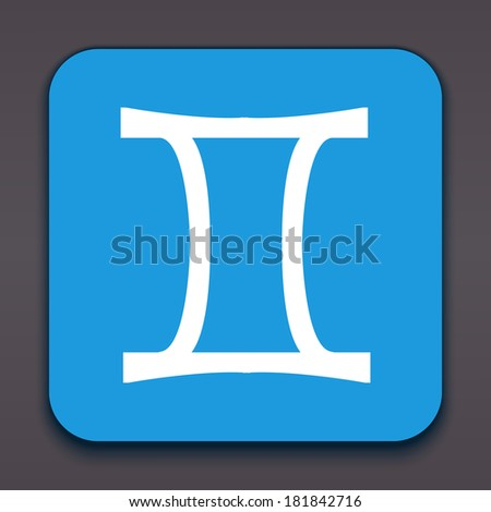 Gemini. Horoscope signs/symbols. Other signs are represented in the my portfolio. - stock photo