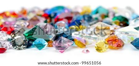 gems isolated on white background - stock photo