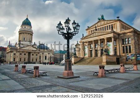 gendarmenmarkt square at day in Berlin - stock photo