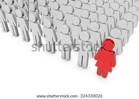 Gender equality concept - stock photo