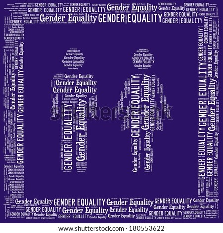 Gender equality in word collage - stock photo