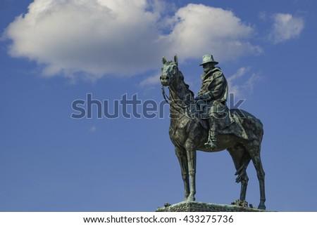 General Ulysses S.Grant and Cincinnati Memorial in Washington DC. - stock photo