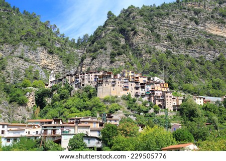 general view of Touet sur var, Provence, France - stock photo