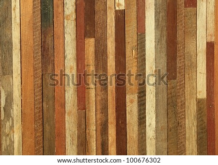 general wood wall background - stock photo