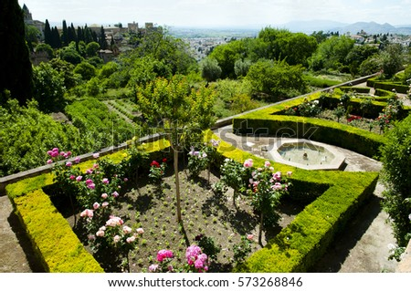 Generalife stock images royalty free images vectors for Generalife gardens