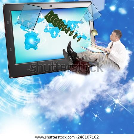 Generation Digital telecommunications technology - stock photo