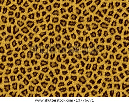Generation of a skin of the leopard - stock photo