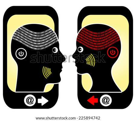 Generation Y. Young people born in the nineteen eighties belong to the Generation Y or Smartphone Generation - stock photo