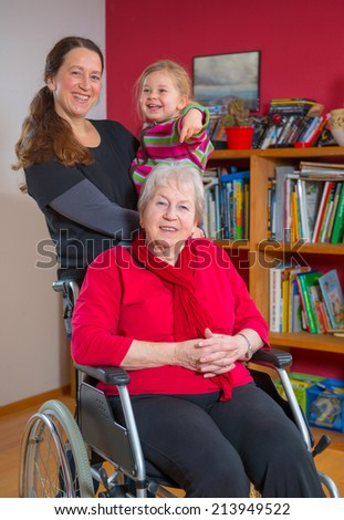 generations - grandmother, mother and granddaughter - stock photo