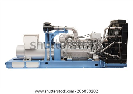 generator isolated under the white background