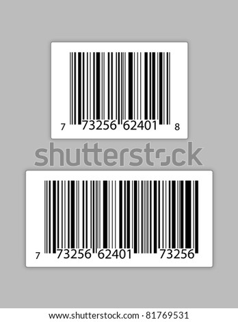 Generic bar codes illustration design - stock photo