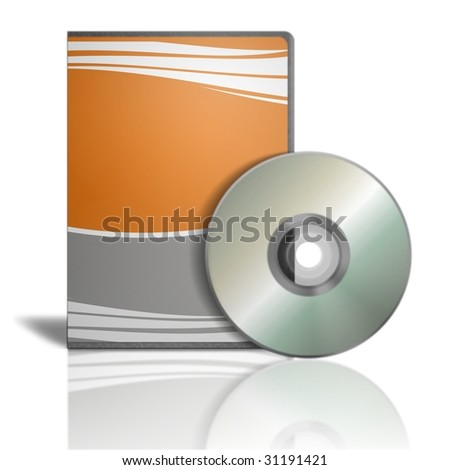 Generic box of dvd on white background