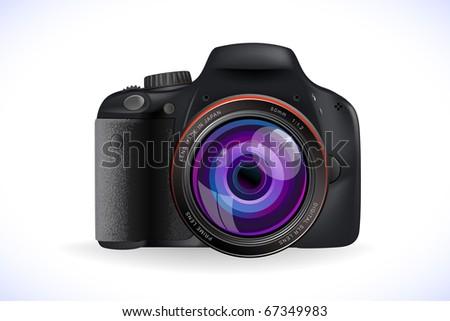 generic digital SLR camera - stock photo