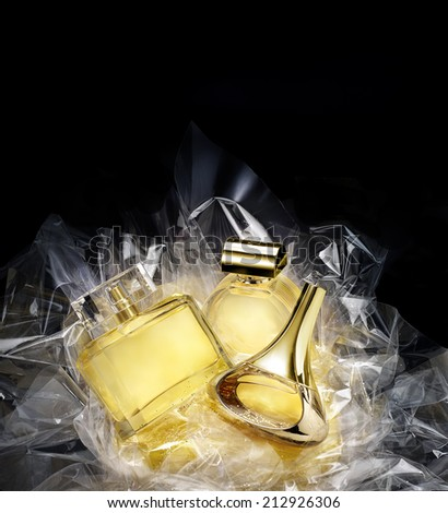 Generic fine fragrances in a concept gift set. See Photo #158879846 - stock photo