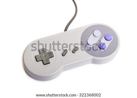 Generic Gamepad Retro Style isolated on White Background. - stock photo