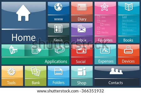 Generic interface software design template for device digital / abstract interface soft generic for computer - stock photo