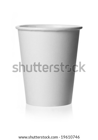 Generic Plain White Paper Coffee Cup. Put your logo or copy upon it. - stock photo