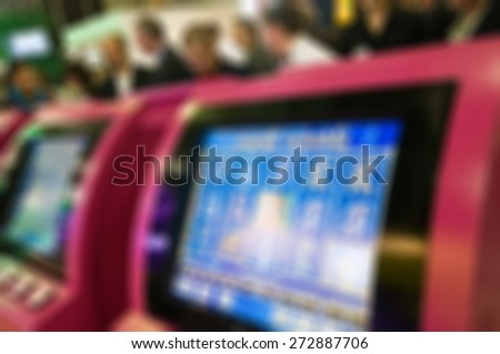 Generic trade show image with blurred defocusing - concept of big business social gathering for international meeting exchange