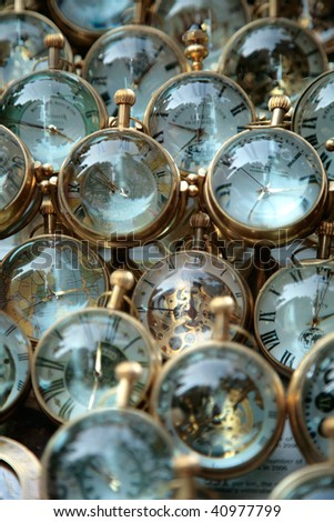 Generic watches stock in Indian market - stock photo