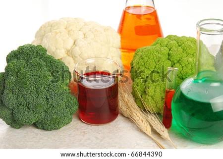 Genetically modified food - stock photo