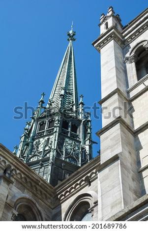 Geneva cathedral Saint Pierre - stock photo