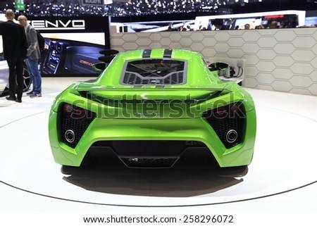 GENEVA, MARCH 3:A ZENVO ST1 car on display at 85th international Geneva motor Show at Palexpo-Geneva on March 3, 2015 at Geneva, Switzerland.  - stock photo