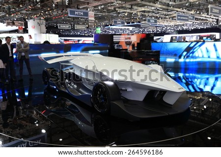 GENEVA, MARCH 3: Italy ED Design TORQ Self Driving Car on display at 85th international Geneva motor Show at Palexpo-Geneva on March 3, 2015 at Geneva, Switzerland.