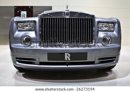 GENEVA - MARCH 7: Rolls Royce Phantom extended base shown on display at the 79th International Motor Show Palexpo-Geneva on March 7, 2009. - stock photo