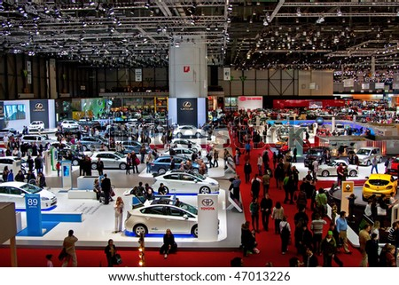 GENEVA - MARCH 7: 79th International Motor Show Palexpo on March 7, 2009 in Geneva, Switzerland. - stock photo