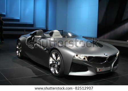 Geneva March 2 Bmw Vision Connected Stock Photo Royalty Free