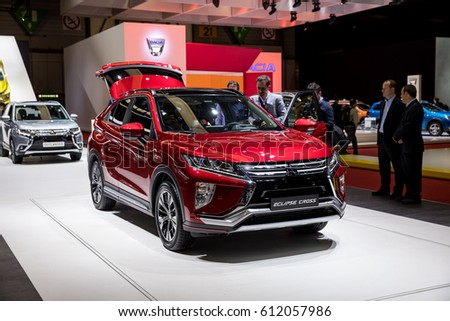 GENEVA 2017: Mitsubishi Eclipse Cross Car On Display At 87th International  Geneva Motor Show At