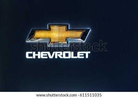 Geneva Switzerland March 8 2017 Chevrolet Stock Photo Royalty Free