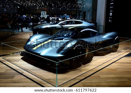 GENEVA, SWITZERLAND - MARCH 18, 2017: Aston Martin at 87th Geneva International Motor Show