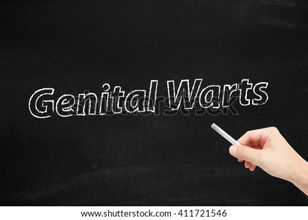 Genital Warts written on a blackboard