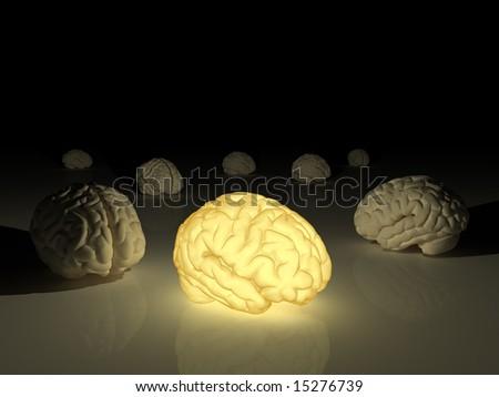 Genius brain - stock photo