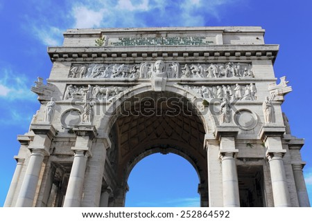 Genoa Arc de Triomphe - stock photo